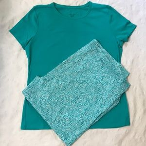 NWOT Nautica 2 pc Sleepwear Set, Teal/White, XL